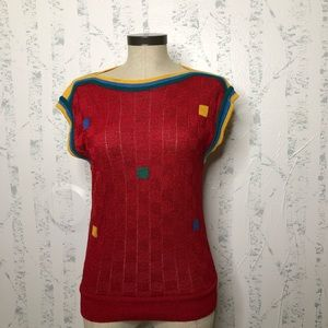 Vintage gibi Roma knit top